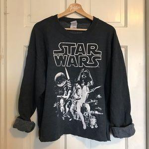 Star Wars Vintage Crewneck Sweater Blue